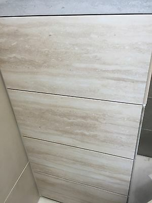 Natural Effect Cream Porcelain Wall & Floor Tile 60 X 30 Cm