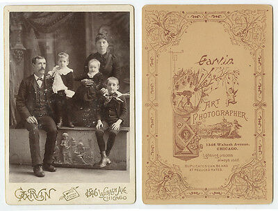 Cab Photo Man Family From Chicago, Illinois, Portrait By Garvin