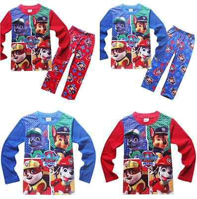 Kids Boy Girl Paw Patrol XMAS Pyjamas Casual Cartoon Nightwear Soft Leisure New