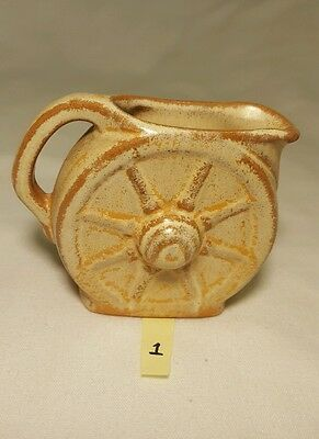 001 Frankoma Pottery 560 Mini Wagon Wheel Creamer Pitcher Desert Gold Sapulpa