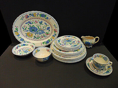 Masons Regency Patent Ironstone Multi Coloured Floral Patterned Plates, Dishes.