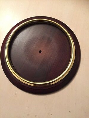 "Dial / School Clock Bezel And Surround New 10"" Dark Wood"