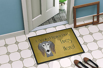 Saluki Spoiled Dog Lives Here Indoor or Outdoor Mat 24x36