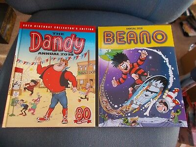 Both Beano, Dandy Annuals 2017 - B/n Mint Cond.-Ideal For B'days ,same Day Disp.