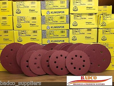 125mm and 150mm Sanding Discs / Sandpaper KLINGSPOR - wood varnish paint filler