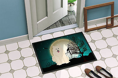 Halloween Scary Samoyed Indoor or Outdoor Mat 24x36