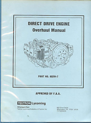 Direct Drive Engine Overhaul Manual - Textron Lycoming P/n 60294-7