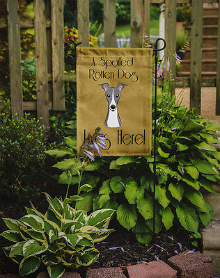 Italian Greyhound Spoiled Dog Lives Here Flag Garden Size