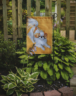 Carolines Treasures  MH1033GF Japanese Chin Red White Play Flag Garden Size