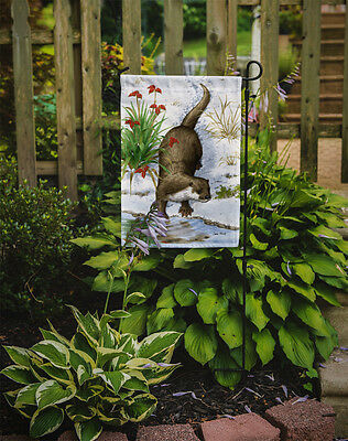 Carolines Treasures  ASA2048GF Otter by the Water Flag Garden Size