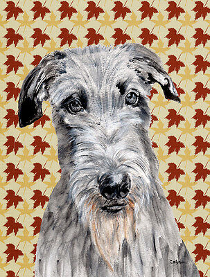 Carolines Treasures  SC9682GF Scottish Deerhound Fall Leaves Flag Garden Size