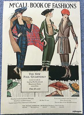 1919 McCall Book Of Fashion New Fall Quarterly Styles Paris Fifth Avenue ad