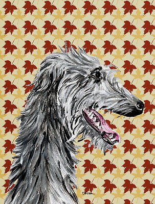 Carolines Treasures  SC9693GF Scottish Deerhound Fall Leaves Flag Garden Size