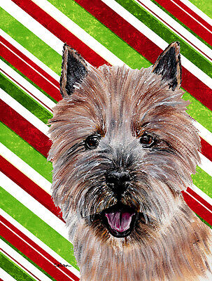 Norwich Terrier Candy Cane Christmas Flag Garden Size