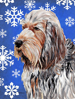 Carolines Treasures  SC9780GF Otterhound Winter Snowflakes Flag Garden Size