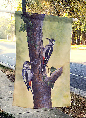 Woodpeckers by Daphne Baxter Flag Canvas House Size