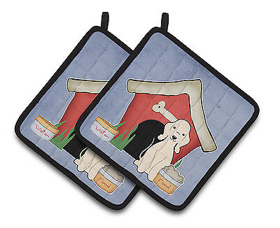 Dog House Collection Bedlington Terrier Sandy Pair of Pot Holders