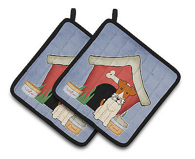Dog House Collection Wire Fox Terrier Pair of Pot Holders
