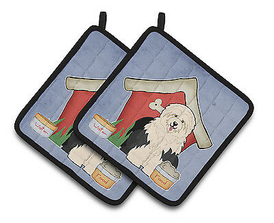 Dog House Collection Old English Sheepdog Pair of Pot Holders