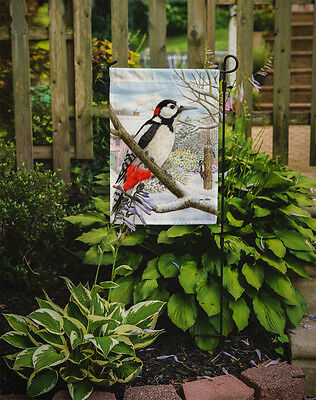 Carolines Treasures  ASA2113GF Spotted Woodpecker Flag Garden Size
