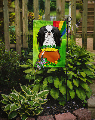Carolines Treasures  BB1974GF Japanese Chin St. Patrick's Day Flag Garden Size