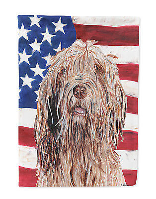 Carolines Treasures  SC9637GF Otterhound with American Flag USA Flag Garden Size