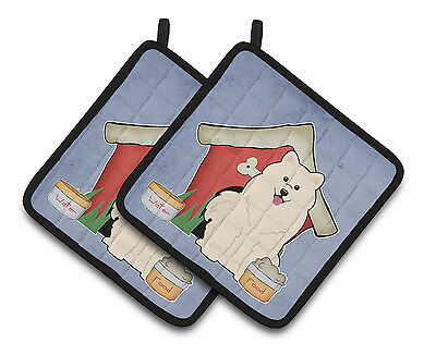 Carolines Treasures  BB2784PTHD Dog House Collection Samoyed Pair of Pot Holders