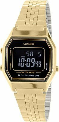 Casio Women's Illuminator Digital Gold Tone Stainless Steel Watch LA680WGA-1B
