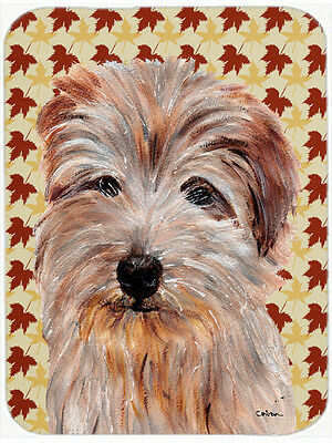 Norfolk Terrier Fall Leaves Mouse Pad, Hot Pad or Trivet