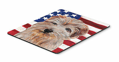 Norfolk Terrier with American Flag USA Mouse Pad, Hot Pad or Trivet
