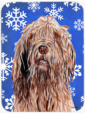 Otterhound Winter Snowflakes Mouse Pad, Hot Pad or Trivet