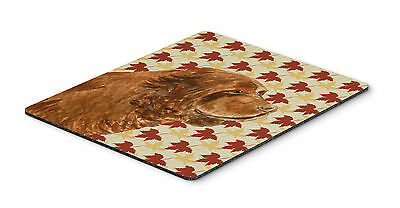 Sussex Spaniel Fall Leaves Portrait Mouse Pad, Hot Pad or Trivet