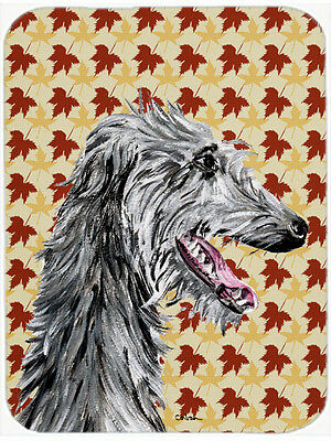 Scottish Deerhound Fall Leaves Mouse Pad, Hot Pad or Trivet