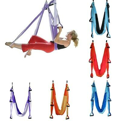 Aerial Yoga Gym Inversion Swing Hammock TRAPEZE FITNESS PILATES Anti-Gravity