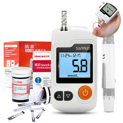 Blood Glucose no coding monitor Test meter kit 50 strips Lancets Glucometer