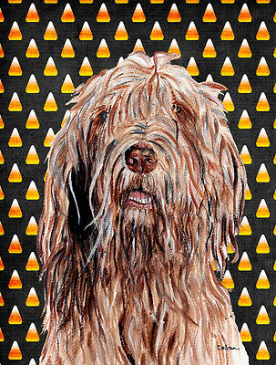 Otterhound Candy Corn Halloween Flag Canvas House Size
