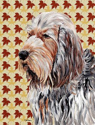 Carolines Treasures  SC9684CHF Otterhound Fall Leaves Flag Canvas House Size