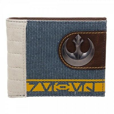 Rogue One A Star Wars Story Rebel Logo Mixed Material Bi-Fold Wallet  NEW