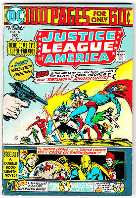 JUSTICE LEAGUE OF AMERICA #114 (FN-) 100 Page Giant! Classic DC 1974 JLA JSA
