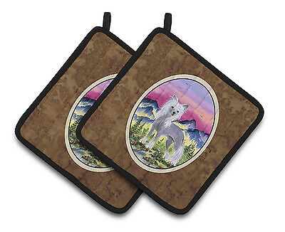 Carolines Treasures  SS8326PTHD Chinese Crested Pair of Pot Holders