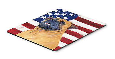USA American Flag with Bullmastiff Mouse Pad, Hot Pad or Trivet