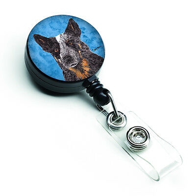 Australian Cattle Dog Retractable Badge Reel or ID Holder with Clip