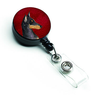 Manchester Terrier Retractable Badge Reel or ID Holder with Clip