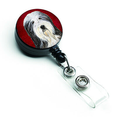 Bearded Collie Retractable Badge Reel or ID Holder with Clip