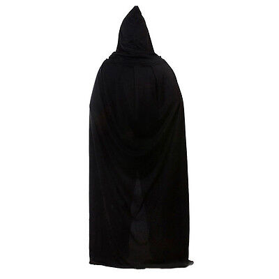 Gothic Hooded Cloak Wicca Robe Medieval Witchcraft Cape Fancy Dress Halloween