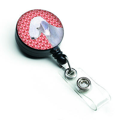 Bedlington Terrier  Retractable Badge Reel or ID Holder with Clip