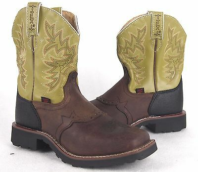 Tony Lama Kids Youth LL904 Leather Western Cowboy Boots