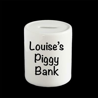 Personalised money box, piggy bank, put a photo, name or special saying on it