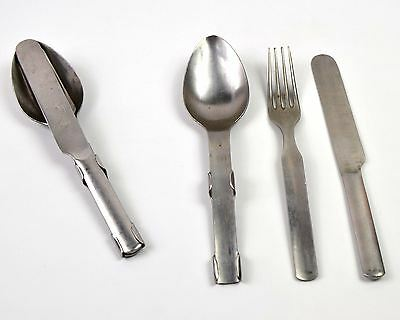 Original Denmark Danish Army cutlery set. Stainless steel military cutlery