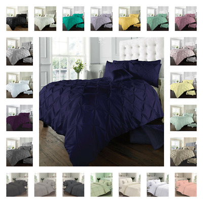 Duvet cover sets with pillowcases double super king single poly cotton bedding